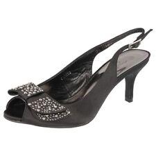 Ladies Anne Michelle PEEP Toe Court Shoes F10253 - D Black 7 UK Standard