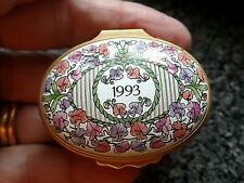 Halcyon Days Enamels A Year to Remember 1993 Boxed COA