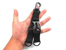 Tactical Hiking Nylon Webbing Backpack Hook Carabiner Keychain Hanging Buckle