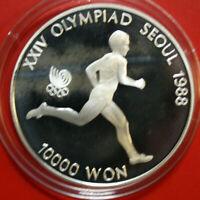 "Süd Korea 10.000 Won 1986 Silber KM# 56 PP-Proof #F4057 ""Olympia"" 1 Oz"