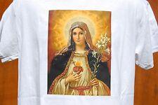 graphic retro art vintage Cotton Mens T Shirt , S,M,L,XL ,Blessed Virgin Mary
