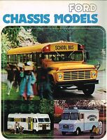 1974/1975 Ford CHASSIS M-P-B Series Brochure: 350,500,600,School Bus,Motor Home,