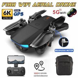 6K HD Mini Drone Dual Camera WIFI FPV Foldable 3 Batteries Selfie RC Quadcopter