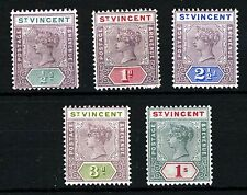 Mint Hinged Multiple British St Vincentian Stamps