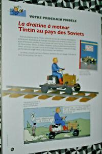 VOITURE MINIATURE1/24 eme TINTIN  n°59 LA DRAISINE A MOTEUR AU PAYS DES SOVIETS