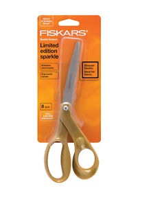 Fiskars Premier 20.3cm Curvado Sparkle Tijeras Oro