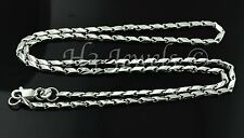 18k solid white gold diamond cut slanted link chain necklace 20 inch 7.40 grams