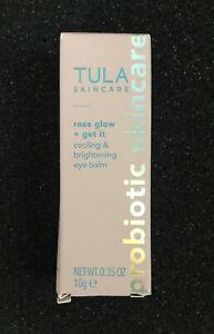 TULA Rose Glow + Get It Cooling & Brightening Eye Balm Full Size .35 oz/10 g NIB