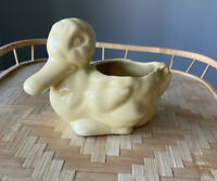 Vintage Mid-Century Ohio Art Pottery Yellow Duck Planter Morton/Shawnee ?