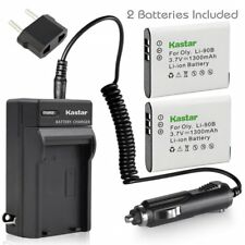 LI-90B Battery & Travel Charger for Olympus Stylus Tough TG-5 TG-Tracker TG-1
