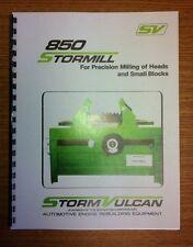 Storm Vulcan Model 850 Rotary Broach Surfacer Manual
