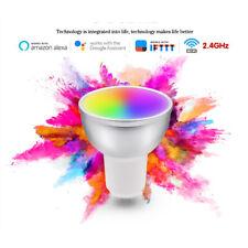 1-4PCS GU10 Smart Bulb App Remote Control RGB 5W LED WiFi Light For Alexa Google