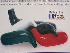 """BOAT FENDERS PAIR WHITE 32 31005 5""""X14"""" LOW FREEBOARD FENDER BASS FLATS TAYLOR"""