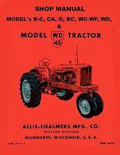 ALLIS CHALMERS WD 45 Tractor Service/Shop Manual WD45