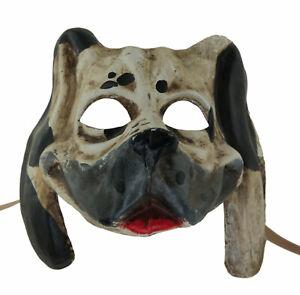 Masque de Venise Chien dalmatien fait main en papier Mâché deguisement luxe 370