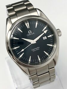 Omega Seamaster Aqua Terra 150 Gents 39.2mm 2517.80.00 Rare Blue Dial Watch