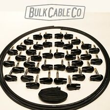 PEDAL BOARD PATCH CABLE KIT - 20 CABLES - 30' MOGAMI 2319 - 40 BLK PANCAKE PLUGS