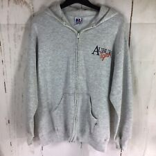 Vintage Russell Athletics Auburn University Hoodie Grey, Made In The USA Sz XL