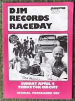 THRUXTON DJM RECORDS RACEDAY OFFICIAL PROGRAMME 4 APR 1976