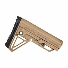 Tactical Alpha Stock Buttstock w/ Rubber Cheek Rest + Recoil Pad - MIL SPEC Sand