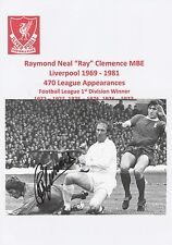 RAY CLEMENCE LIVERPOOL 1969-1981 ORIGINAL HAND SIGNED ANNUAL CUTTING
