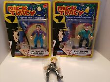 Vintage Dick Tracy Figure Lot. 2 Carded, One Loose