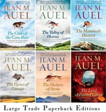 Jean Auel EARTH'S CHILDREN Series Collection of LARGE TRADE PAPERBACKS Books 1-6