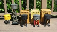 Lot of 5 Vintage Marx Water Tower Track Side Accessories