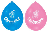 22cm Christening Balloon Party Celebration Boy Girl Male Female Latex Air Helium