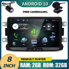 "8"" Sat Nav For Dacia Duster Renault Android 10.0 Head Unit Car Stereo Radio GPS"