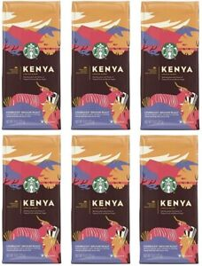 12 Bags Starbucks Premium Kenya Blend Medium Roast Whole Bean Best By 7/20