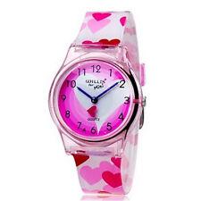 Children Girls Watches Heart Bracelet Wristwatch Fashion Lovely Kids Watch Gifts