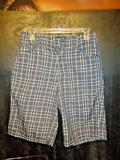 MENS BLACK CHECKERED CASUAL SHORTS . SIZE 28 WAIST / CHEAP