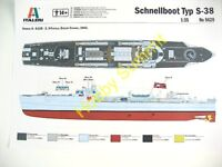 NEW 1/35  SCHNELLBOOT  S-38  Fast Attack Torpedo Boat  Italeri WWII German Kit