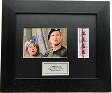 More details for stargate kurt russell signed repro + original film cell memorabilia