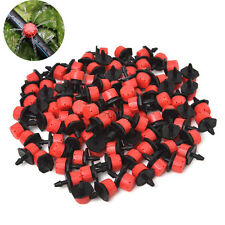 "100 Pcs Irrigation Sprinklers Watering Drippers Emitter Drip System On 1/4"" Barb"