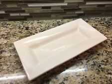 Pottery Barn Sausalito Square Serving Platter Rectangular Ivory EUC