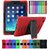 Heavy Duty Rugged Armor Hard Case with Built-in Screen Protector For Apple iPad