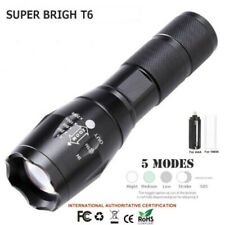 CREE T6  LED Flashlight Torch 50000LM Zoomable 5-Mode for 18650