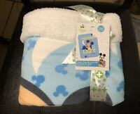 Disney Baby Mickey Mouse Novelty Baby Blanket-Fleece Front/Printed Back
