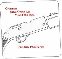 Crosman 760 Rifle Pre-July 1975 Series  REBUILD RESEAL O-RING SEAL KIT