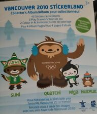 Vancouver 2010 Olympic Stickers Mascot Quatchi Sumi Miga Mukmuk 43 Sticker Book