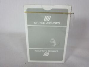Vintage 1970s United Airlines Playing Cards Tulip Logo Open Box NEW Sealed Deck