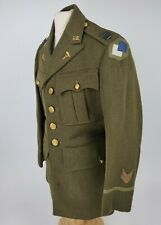 Intrawar US Army 96th Infantry Medical Admin Corps Tunic W/ Sterling Captain Pin