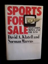 Sports For Sale Television Money & Fans Hardcover 1st. edition Dustcover 1988