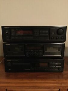 ONKYO STEREO SYSTEM amplifier, dual cassette and Cd player
