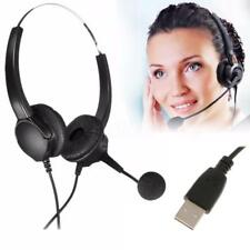 USB Headset w/ Microphone Noise Cancelling Business Headset for Call Center