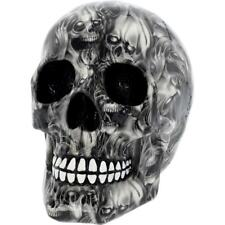 Soul Medium Skull Grey Black Gothic Figure Ornament Art Figurine Decor Gifts