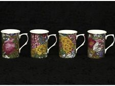 4 (Four) STECHCOL GRACIE GARDEN PARTY Bone China Cylinder Mugs