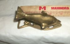 """Vintage solid brass fish dolphin shaped Note Clip Bottle cap opener 4""""  Gatco"""